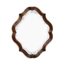 Rustic walnut oval antique mirror
