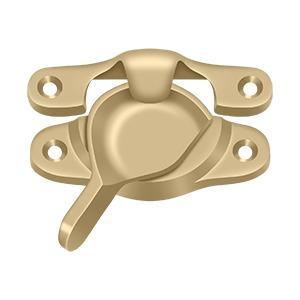 """Window Sash Lock, 1 1/8"""" x 3"""" - Brushed Brass Product Image"""