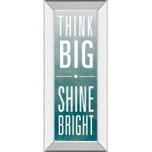 """Shine"" By Sd Studios Mirror Framed Print Wall Art"
