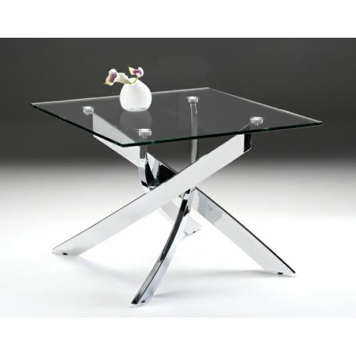 Modrest Pyrite Modern Glass End Table