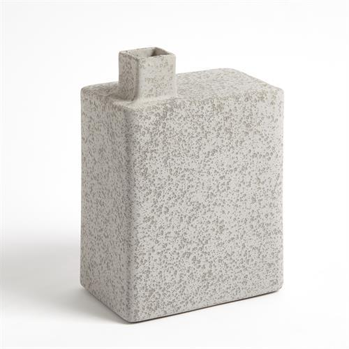 Square Chimney Vase-Grey-Sm