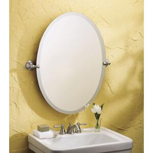 Sage brushed nickel mirror