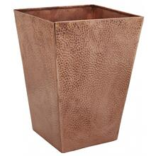 Hammered Rose Gold Wastebasket