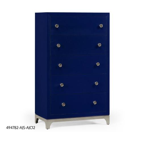 Tall chest with blazer buttons (Royal Navy/Silver)