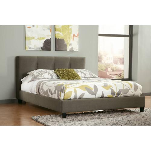 Masterton - Gray 2 Piece Uph Bed (King)