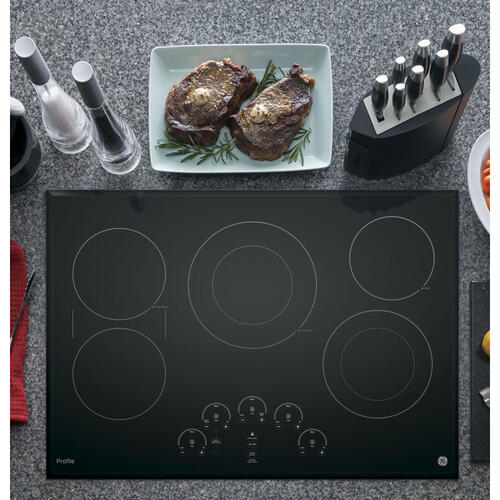 "GE Profile 30"" Electric Smoothtop Cooktop Black PP9030DJBB"