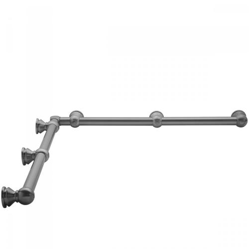 "White - G30 48"" x 60"" Inside Corner Grab Bar"