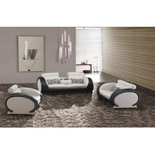 Divani Casa 816 Modern Black and White Leather Sofa Set