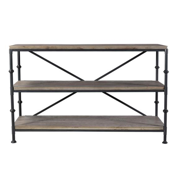 Riverside - Revival - Console Table - Spanish Grey Finish