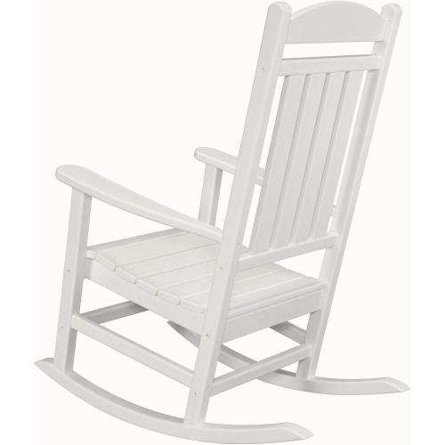 Hanover All-Weather Pineapple Cay Porch Rocker - White, HVR100WH