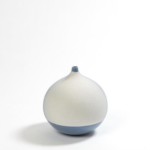 Pixelated Ball Vase-Blue-Lg