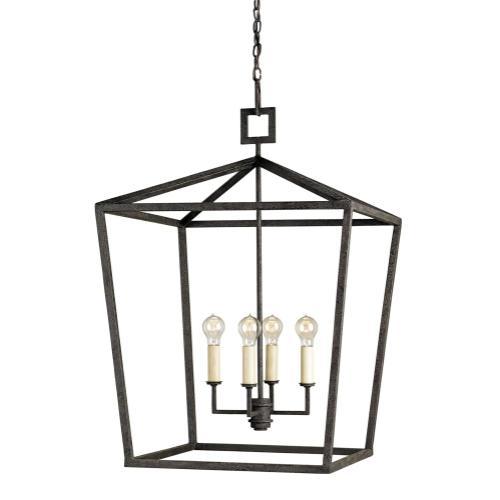 Currey & Company - Denison Black Large Lantern