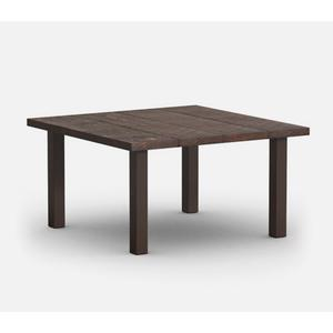 """48"""" Square Dining Table (with Hole) Ht: 27.75"""" Post Aluminum Base (Model # Includes Both Top & Base)"""