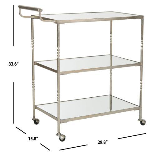 Aurelius Bar Cart - Silver