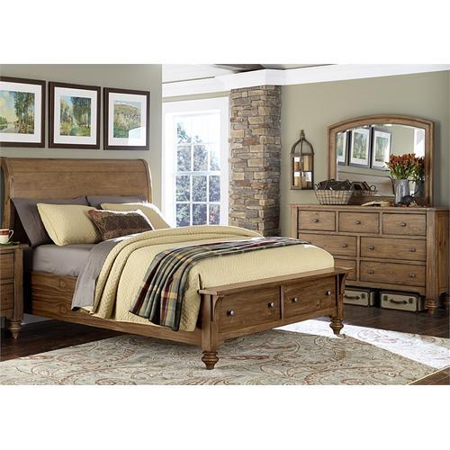 Liberty Furniture Industries - King Storage Bed, Dresser & Mirror