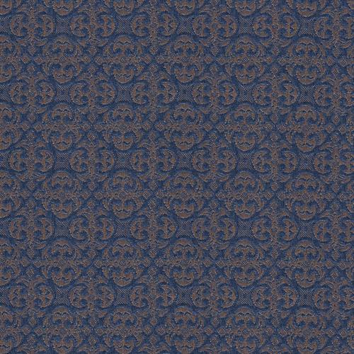 Flash Furniture - 18.5''W Church Chair in Abbey Caspian Fabric - Gold Vein Frame