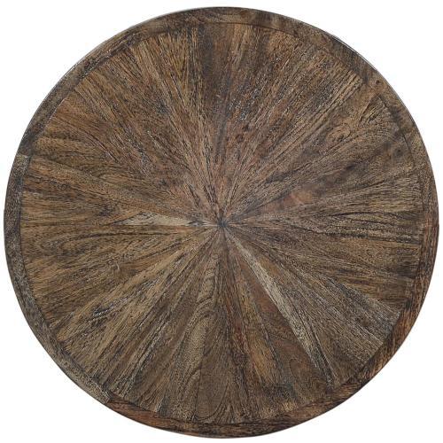 Kingston - Round Side Table - Nomad Finish