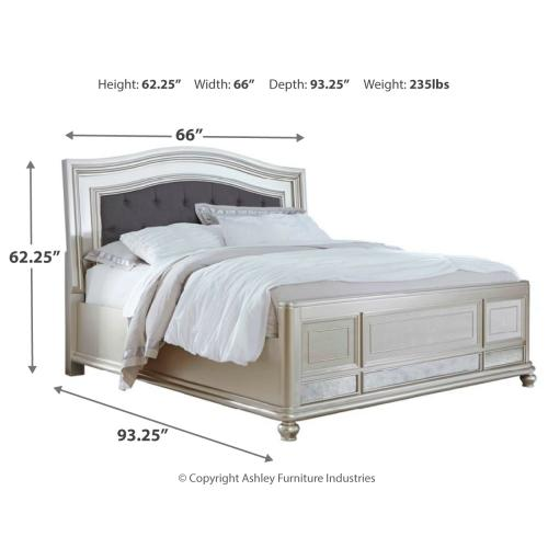 Ashley - Queen Panel Bed With Mirrored Dresser, Chest and 2 Nightstands