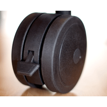 See Details - Archetype Dual Wheel Casters, Set of 4, Black