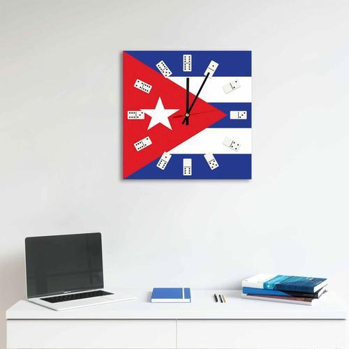Grako Design - Square Cuban Flag Acrylic Wall Clock