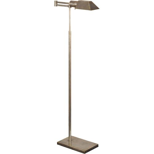 Visual Comfort 81134AN Studio Classic 43 inch 40 watt Antique Nickel Swing-Arm Floor Lamp Portable Light