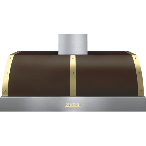 Hood DECO 48'' Brown matte, Gold 1 blower, electronic buttons control, baffle filters