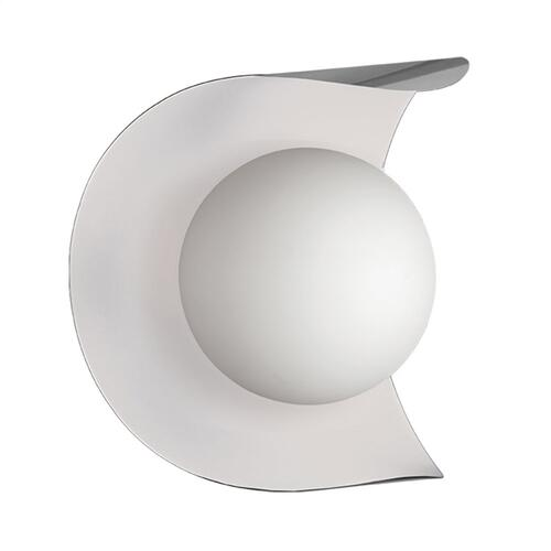 1lt Wall Sconce S Chrome & M White