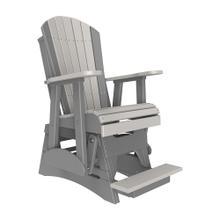 See Details - 2 Adirondack Balcony Glider Chair, Dove-gray-slate