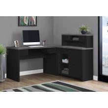 COMPUTER DESK - BLACK / GREY TOP LEFT/RIGHT FACING CORNER
