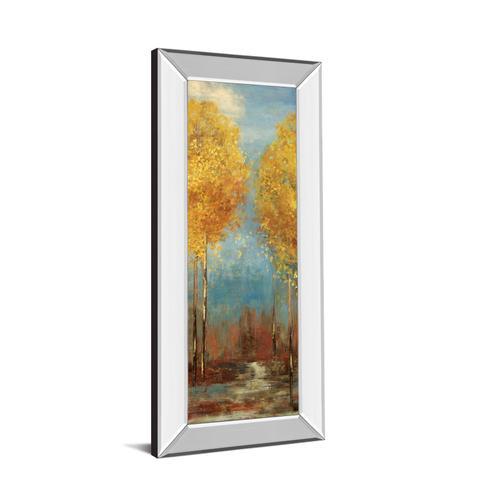 """Ginkgo Tree Il"" By Asia Jensen Mirror Framed Print Wall Art"