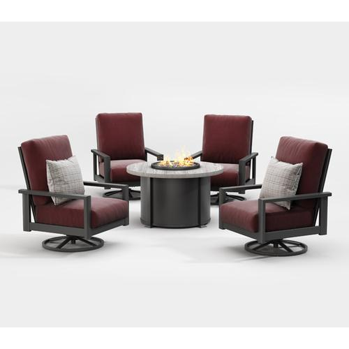 Swivel Rocker Chat Chair - Cushion
