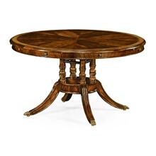 "Mahogany 53"" Round to Oval Dining Table"