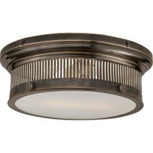 Visual Comfort CHC4391BZ-WG E. F. Chapman Alderly 2 Light 13 inch Bronze Flush Mount Ceiling Light