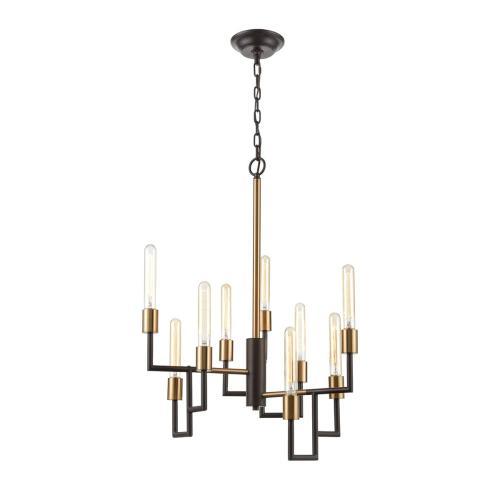 Congruency 9-Light Chandelier in Oil Rubbed Bronze