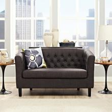 Prospect Upholstered Fabric Loveseat in Brown