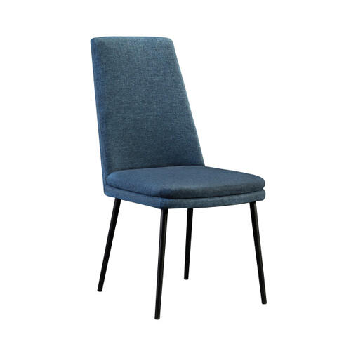 Modern Upholstered Dining Chair in Denim (2pc)