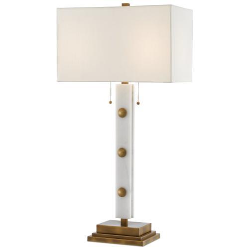 Currey & Company - Khalil White Table Lamp