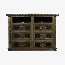 View Product - 6 Drawer TV Dresser W/Cowhide & Star