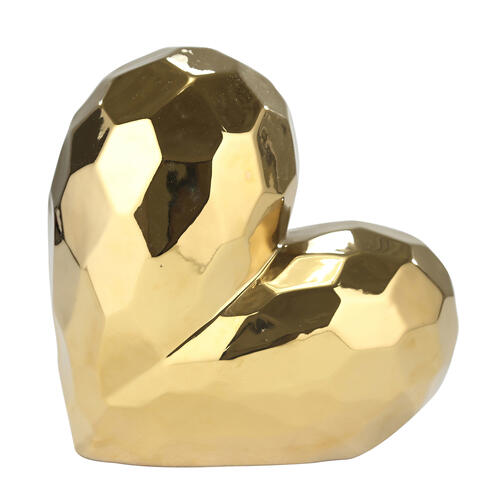 "Sagebrook Home - Gold Ceramic Heart 11"""