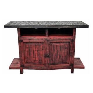 Red Scrap TV Stand 55wx36hx20d