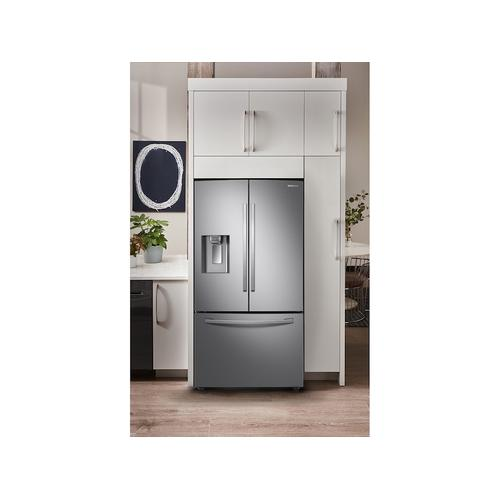 23 cu. ft. Counter Depth 3-Door French Door Food Showcase Refrigerator in Stainless Steel