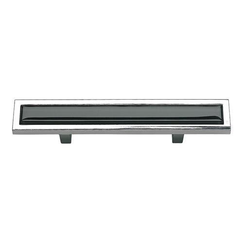 Spa Black Pull 3 Inch (c-c) - Polished Chrome