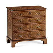 Windsor Floral Marquetry & Parquetry Small Chest of Drawers