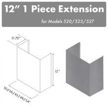 """See Details - ZLINE 12"""" Chimney for 54"""" Under Cabinet Hoods (520/523/527-54-1FTEXT)"""