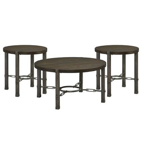Laredo 3-Pack Accent Tables, Burnished Grey