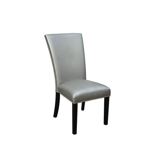 Camila Silver PU Dining chairW/ Nailhead