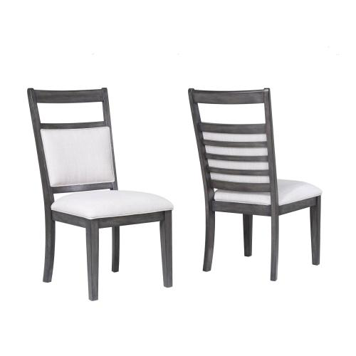 Dining Set with China Cabinet - Shades of Gray (9 Piece)