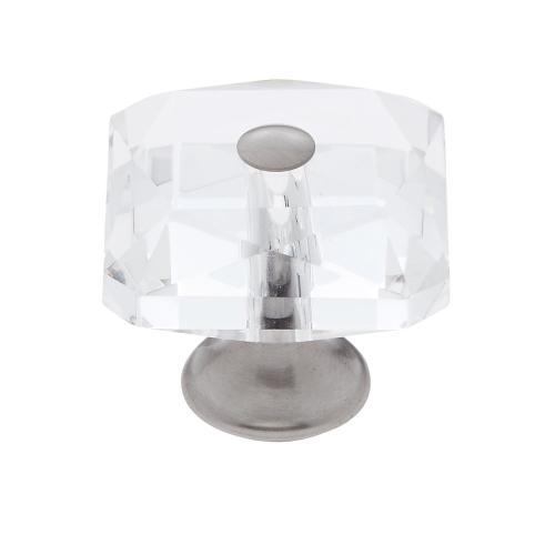 Satin Nickel 35 mm Square Crystal Knob