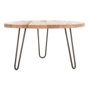 Safavieh - Dale Free Edge Coffee Table - Weathered Oak / Dark Steel