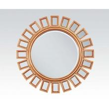 """See Details - Gold Accent Mirror, 36""""d"""